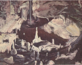 Valley of Dreams- 1940s Vintage Postcard- Cave of the Winds- Manitou Springs, Colorado- Rock Formation- Souvenir Postcard- Paper Ephemera