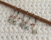 Removable Stitch Marker Houses - 5 Mushroom House Stitch Markers for Crochet and Knitting