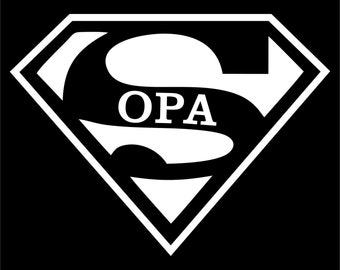 Super OPA  T-shirt Fathers Day Gift  New Dads Funny Shirt Best Dad T-shirt  Father Shirt