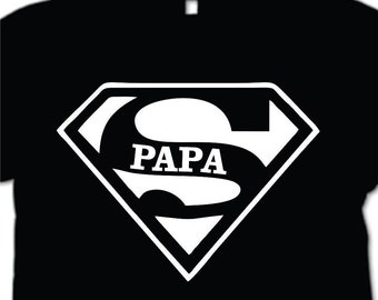 Super Papa T-shirt Fathers Day Gift  New Dads Funny Shirt Best Dad T-shirt  Father Shirt