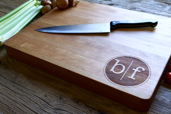 Personalized and Engraved Chopping block, Edge Grain, Wedding Gift, Anniversary Gift, Personalized Gift, Gifts for the Home