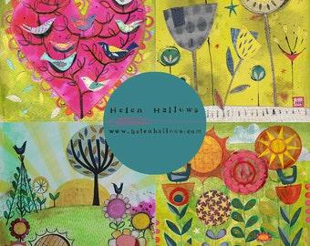 Garden Art Cards - set of 4