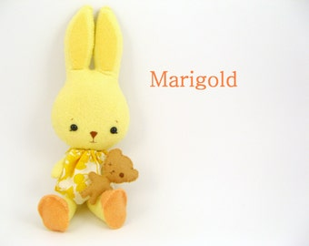 Marigold Easter Bunny - Gingermelon Bunnycup and Tedward Stuffed Plush Rabbit