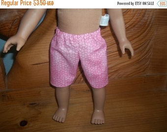American 18 Inch doll clothes shorts pink with stone pattern