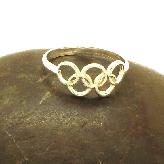 925 Silver Olympic 2016 Rio Ring Olympic Rings Ring By