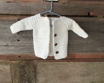 The Classic Cartrigan Sweater- Baby Newborn to Three Month Size