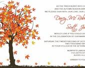 Custom Wedding Invitations Listing for Darcy McRoberts - fall in love