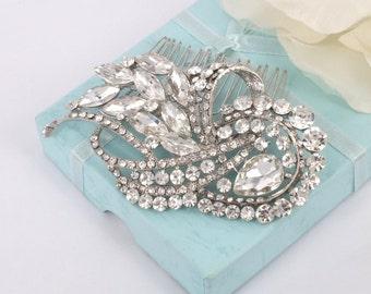 Glamorous-Swarovski Rhinestone Bridal Comb