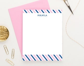 Personalized stationery for girls, Girls personalized stationary, Personalized Thank you notes, colorful stationery, Flat note cards, KS040