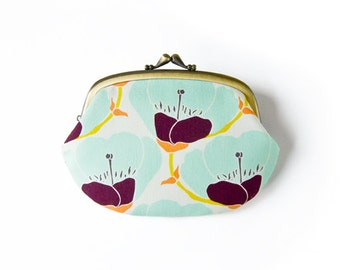 Soda Blooms Compartment Purse Wallet