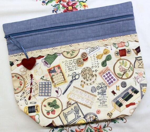 Big Bottom I Love Needlearts Cross Stitch, Embroidery Project Bag