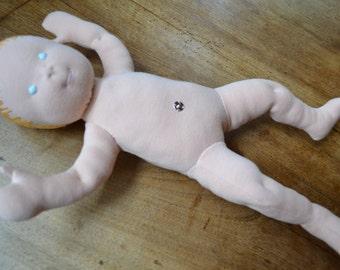 Fabric newborn baby doll