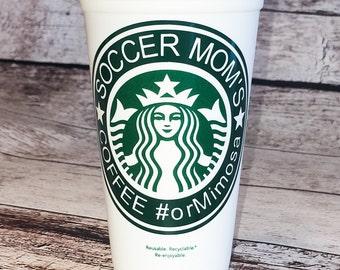 Soccer Mom's Starbucks Coffee or ??travel tumbler