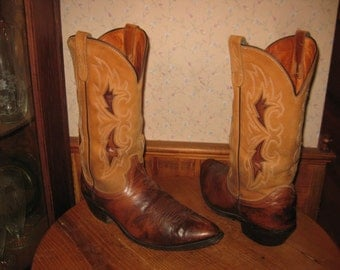 J.  Chisholm     MADE IN U.S.A.    Cowboy  Boots      Mens  11  Wide