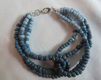 "7 1/4"" Blues Bracelet with Silver Clasp, Bracelet, Blue"