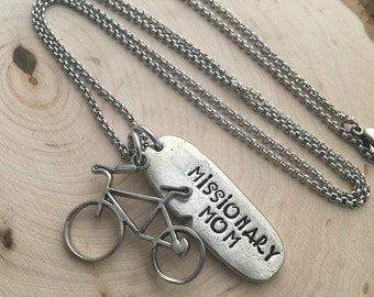 Hand Stamped Necklace ~ Missionary Mom Necklace ~ Missionary Necklace ~ LDS Missionary ~ Missionary Mom Jewelry~ JessicaBe ~ Handmade