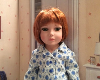 Custom 18 Inch Doll Clothing-Vintage Print Flannel Pajamas For 18 Inch Dolls Like Robert Tonner's My Imagination™