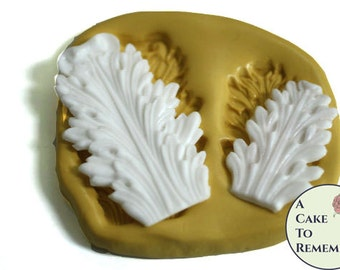 Cake decorating supplies silicone molds wafer by for Acanthus leaf decoration