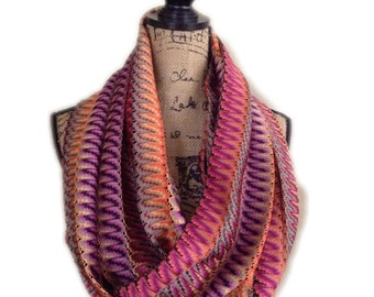 Double hidden pocket scarf, scarf with hidden pockets, secret pocket scarf, scarf with two hidden pockets
