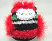 Plush Owl Ornament, Owl Decoration