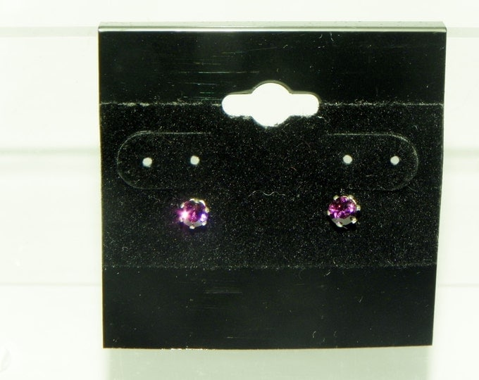 Sterling silver Swarovski 4mm stud earrings. Choice of colour