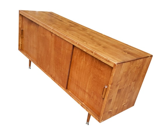 mid century tv stand media console made to order 120 days. Black Bedroom Furniture Sets. Home Design Ideas