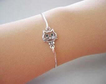CAT FACE bangle bracelet