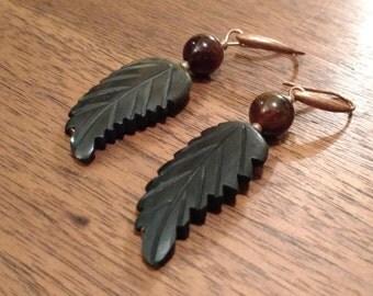 """Horn """"Feather"""" Earrings  (E1053)"""