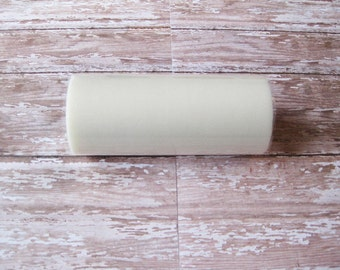 Ivory Tulle | 25 Yard Roll, 6 Inch Wide Ivory Nylon Tulle | Tutu Tulle