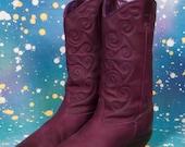 ZODIAC Purple Cowboy Boots Women's Size 9 M