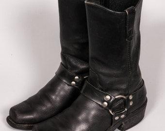 Black MOTORCYCLE Boots Men's Size 8 D