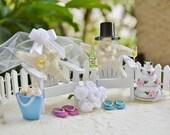 Wedding Cake Topper ~ Miniature Adirondack Chairs  ~ Knobby Starfish Bride/Groom ~ Beach Wedding ~ For 5 inch Cake Top ~ Read Details