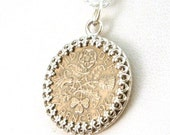 CIJ SALE - Good Luck Sixpence Necklace, Bridal Jewelry, Bridesmaid Gift, Wedding Sixpence Necklace