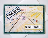 Come Rain or Come Shine - You Are Ready For This - Running Race Encouragement Handmade Greeting Card - You Got This - marathon, half, tri