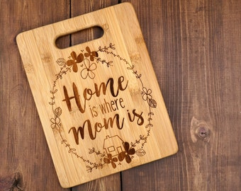 Mother's Day Cutting Board - Birthday Gift - Custom Engraved Bamboo Cutting Board