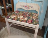 Vintage Vanity Chair with Padded Seat Painted Furniture Art Deco