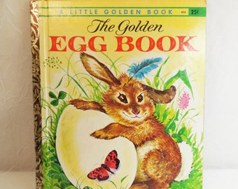 The Golden Egg Book by Margaret Wise Brown 1962 Vintage Little Golden Book 456
