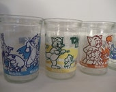 Retro 7 Collectible Welch's Themed Glass Juice, Water, Milk Tumblers