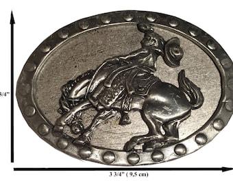 Oval Cowboy belt buckle