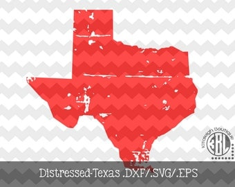 Distressed Texas design INSTANT DOWNLOAD in dxf/svg/eps for use with programs such as Silhouette Studio and Cricut Design Space