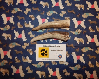 """3 Organic Small Deer and Elk Antler Dog Chews """"Made in Montana"""" (Lot J11)"""
