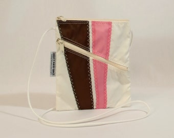 Crossbody Bag, Shoulder Bag, Small Shoulder Bag, Nautical Bag, Bridesmaid Bag, Sail Bag, White Bag, Pink Bag, Brown Bag (OTS9)