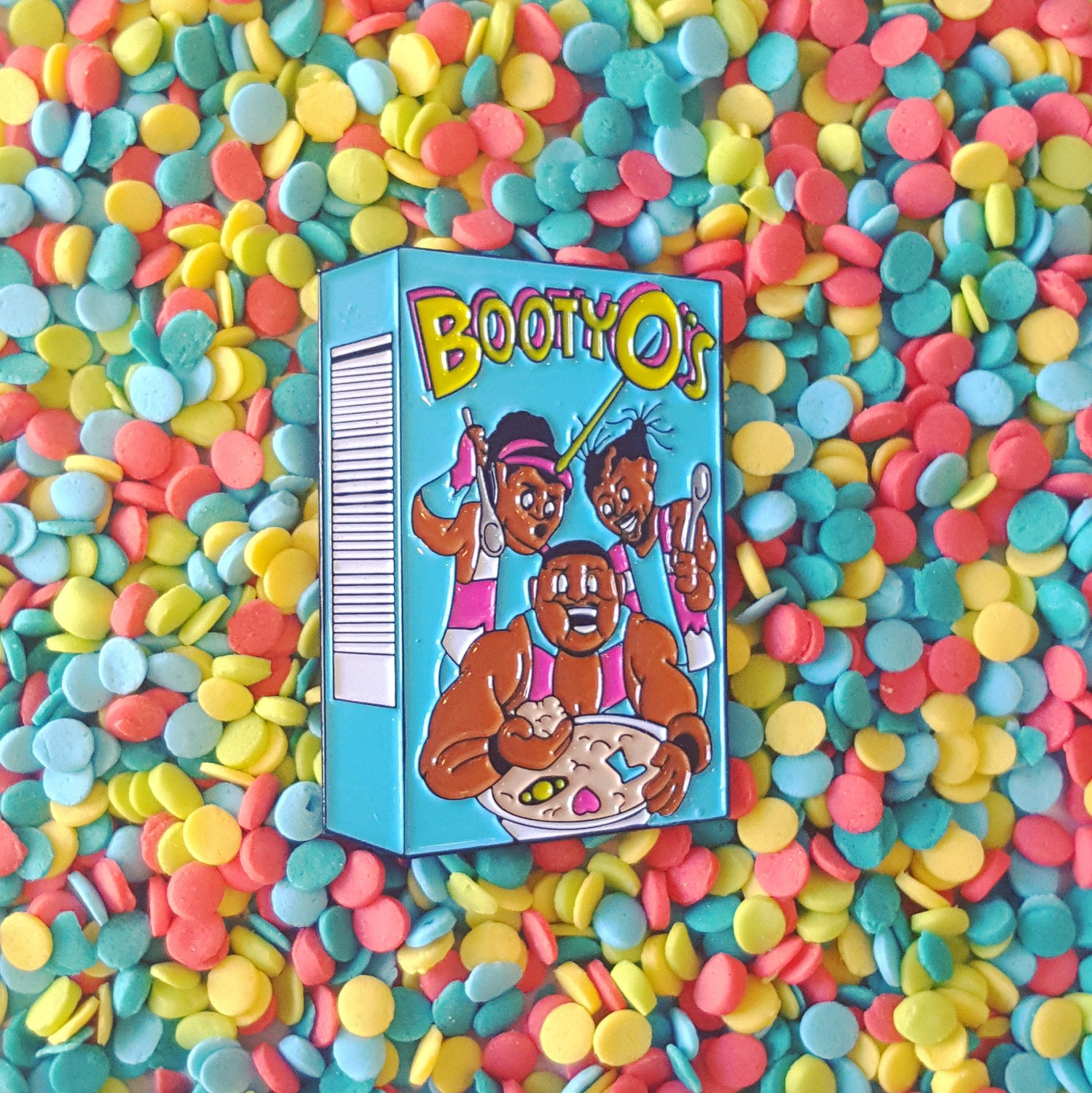 The New Day Booty-o's Cereal Enamel Lapel Pin By Againstmarj