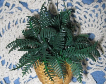 Miniature Doll House Hanging Boston Fern