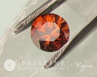 Orange Zircon Round 3.50 Carats Loose Gemstone for Anniversary Ring