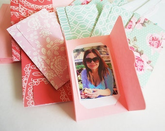 Fuji Instax Mini picture holder party favors Garden prints, baby shower, bridal shower