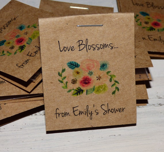 10  off coupon on 30 personalized mini floral bridal shower flower seed packet favors sow in