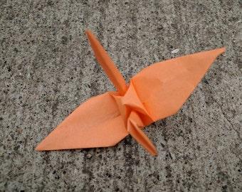 "100 6"" peach origami paper cranes wedding party decoration"