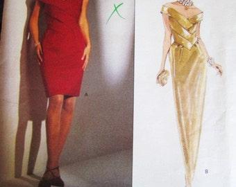 Vogue 2785 BELLVILLE SASSOON  DESIGNER Sewing Pattern Short / Long Evening Dress ( pre-owned uncut ) Sz 8-10-12