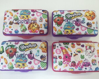 Personalized Shopkins Kids School Pencil Box Case